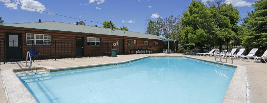 Season swimming pool at Blue Sky Lofts Apartments
